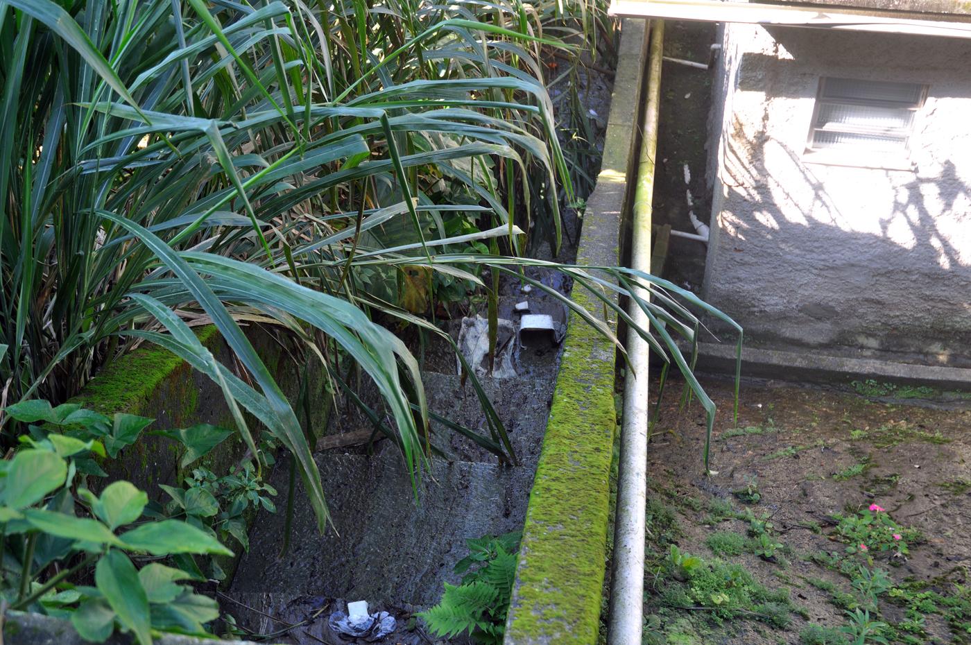 Oft fließen die Abwässer in offenen Gräben zu Tal. (Bild: Andreas Lerg)