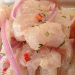 Ceviche peruana ist lecker und einfach zuzubereiten.